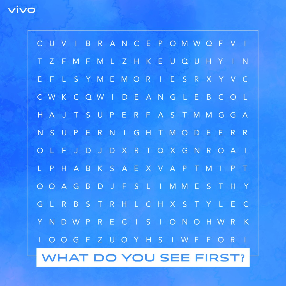 #WorldThesaurusDayClarity, Super Night Mode, Technology, Style, and Precision - some of the words synonymous with #vivo.Comment below which word you see first.