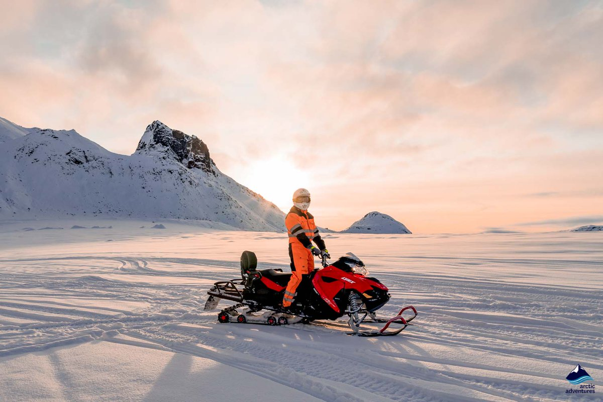 """Check """"Glacier"""" off your #bucketlist in the most exciting way possible on this #glacier #snowmobile adventure from our #Langjokull basecamp.  This is definitely the adrenaline trip you have been looking for!  ⬇️  http://bit.ly/2s4CB8F ⬆️"""