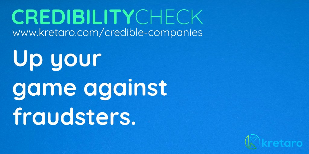 Check whether your company is credible or not.  http://www.kretaro.com/credible-companies…  #Crediblecompany #SaturdayVibes #SaturdayMorning #company #Professionals #jobseekers pic.twitter.com/3Isq9YjXIl