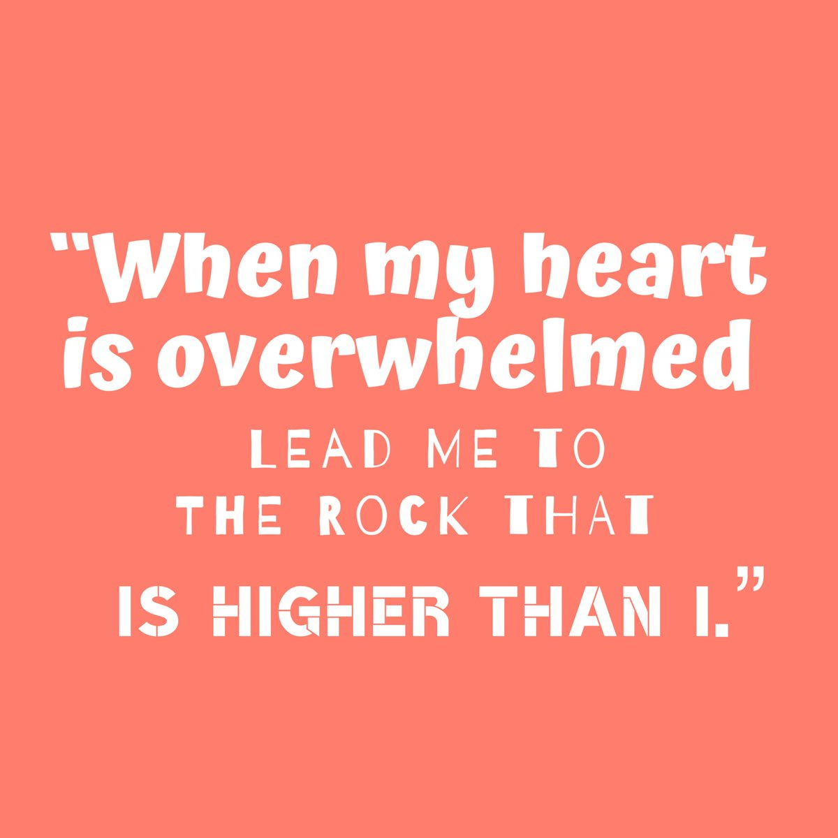 "test Twitter Media - ""When my heart is overwhelmed: lead me to the Rock that is higher than I."" (Psalm 61:2) #FridayMotivation https://t.co/UFOzp2hrQm"