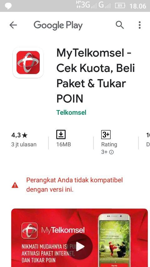 Telkomsel Auf Twitter Baik Kak Deniz Maaf Jadi Ga Nyaman Terkait Kendala Tidak Bisa Akses Aplikasi Mytelkomsel Mohon Pastikan Untuk Menggunakan Os Android 6 Keatas Apabila Berkendala Dengan Device Silahkan Akses Melalui