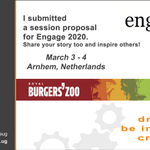 Image for the Tweet beginning: Submitted my second session proposal