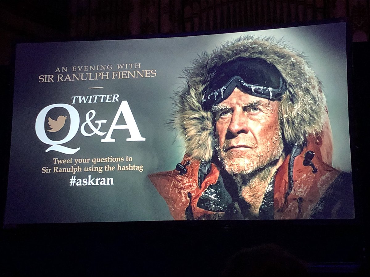 The amazing @ranulphfiennes @LeedsTownHall. Great insight into the motivation and mentality that make him the greatest living explorer! He also gave a shout out to @KentonCool , @LeedsAlumni ...i played hockey with home once, but he opted to do exploring instead... #Everest
