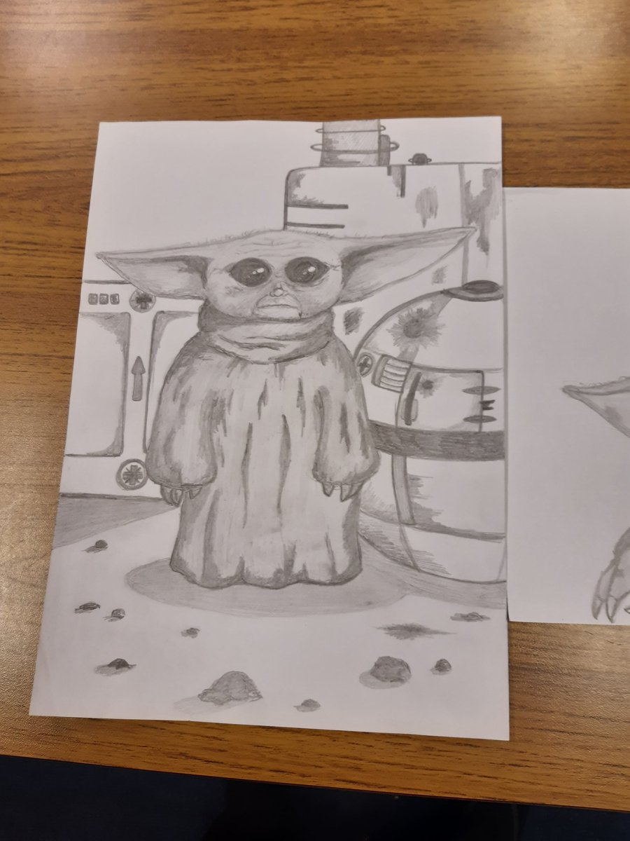 When you admire a parent's amazing art skills and they send in drawings for you, love them!