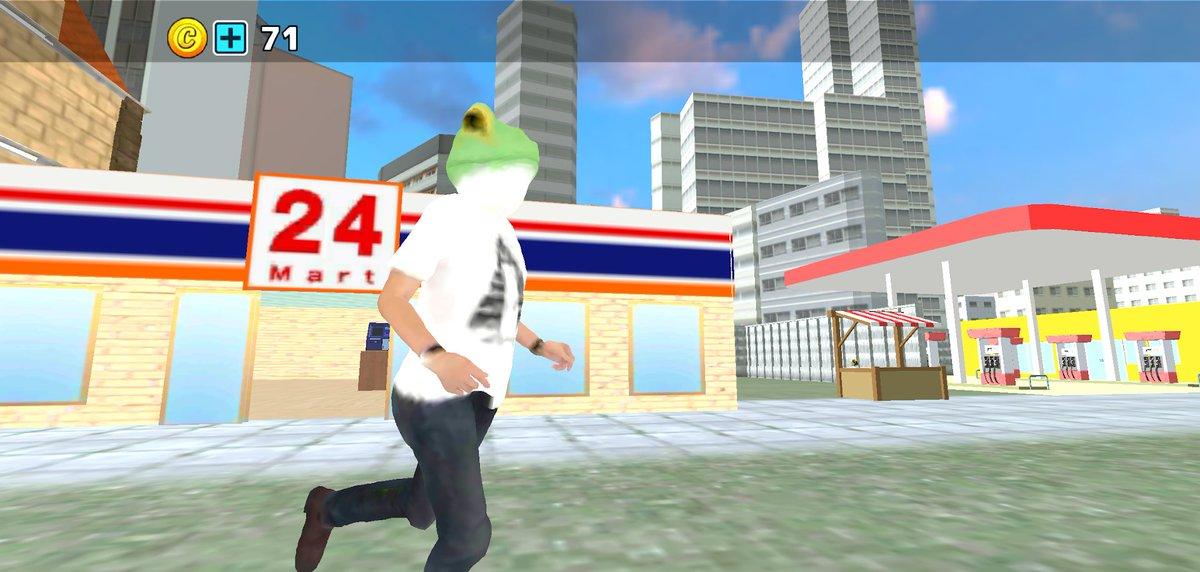 なんかこのカエル、走り方がオカマっぽい。。。今の私のどうぶつスクールの様子#どうぶつスクールシミュレーターAndroid版 iOS版