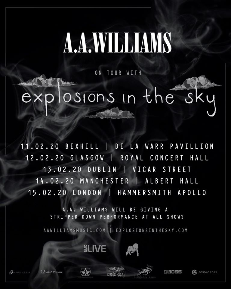 We're excited to announce that @aawilliamsmusic will be supporting @EITS Explosions In The Sky!