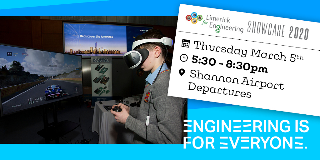Interested in a career in Industry4.0? This #Limerick4Engineering Showcase looks like a good place to find out more #DigitalSkills #LifeLongLearning #Industry4E #DigitiseEU #Industry40 #Digitalindustry #ECSELJU #H2020