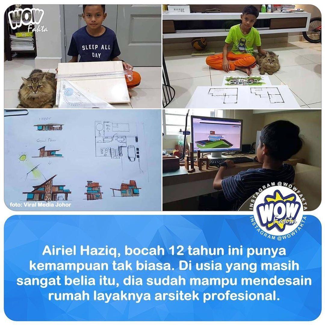 Dikutip Pikiran-Rakyat dari kanal World Of Buzz, dalam sebuah postingan facebook yang menjadi viral. Airiel Haziq, bocah asal Malaysia berusia 12 tahun sudah mampu menyusun gambar arsitektur dengan baik.  Bahkan bocah ini juga memiliki.. . . https://www.instagram.com/p/B7YP_VQh6ai/ . .pic.twitter.com/yFcUiuMcmb
