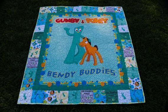 Oh I just Love #Gumby and #Pokey! #babyboys or #babyGirls, #ToddlerBoys or #toddlerGirls.  Great for #Birthday ,#Holiday, #BabyShower #Minky #Quilt  #christmas #christmascountdown #christmasiscoming #handmadechristmas #happychristmas https://buff.ly/3523ngJpic.twitter.com/HLOfYgyTDL