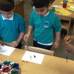 Image for the Tweet beginning: Reception children enjoying using a
