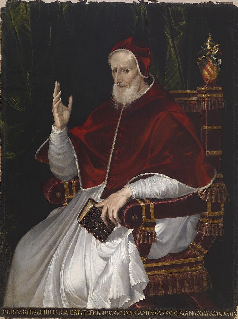 Born #OnThisDay in 1504: Antonio Michele Ghislieri, aka Pope #PiusV (1504-72)  Portrait by #BartolomeoPassarotti (1529-92), ca. 1566   #ItalianArtpic.twitter.com/B8RaogKXh4