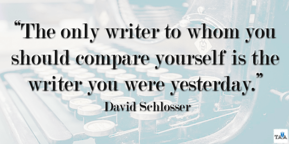 I am my own worst critic. I will always kick my own ass harder than you. No, I am not Gaiman, King, Frost, Hemingway, or Woolf. I am NOT your competition. I am trying to be the very best version of me I can be. Writing is hard. Lift one another up. Be the change.