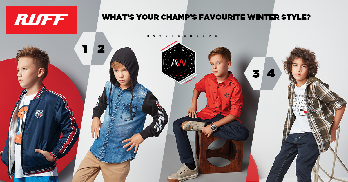 Don't simmer down this winter!  What's your hunk's pick from our classic collection? Tell us in the comments below.  Locate your nearest store: http://bit.ly/RuffStoreLocator…  #RUFF #AW1 #KidsClothing #BoysClothes #WinterStyle pic.twitter.com/nYPGGHs7Me