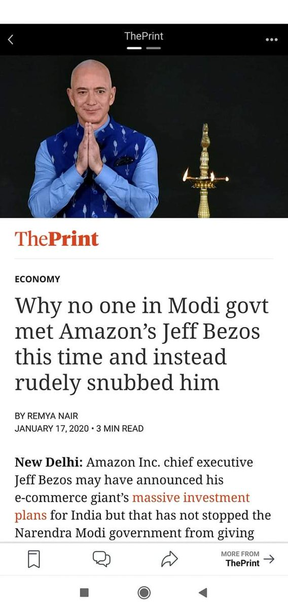 .......Because @JeffBezos owns @washingtonpost..which has written strongly against CAA and Article 370 removal.@amazonIN @amazon @AmazonUK #CAA_NRC_Protests#ProtestsAgainstCAA_NRC_NPR #IndiaAgainstCAA_NRC @WSJ @nytimes