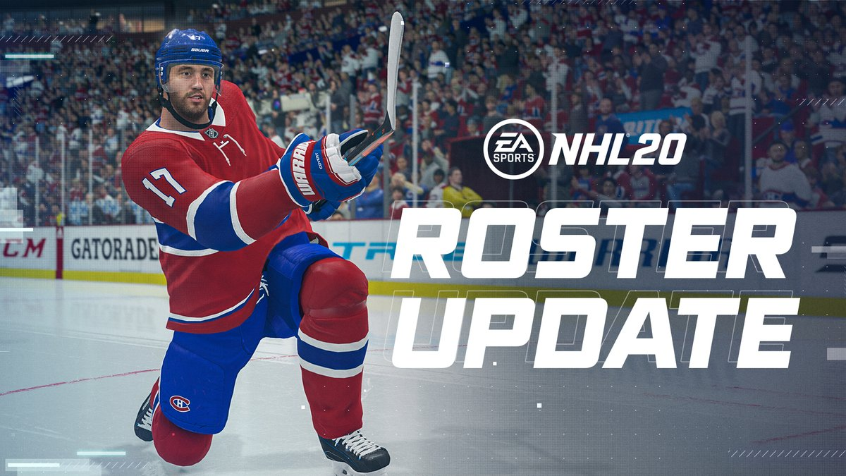 A new Roster Update is now available in #NHL20 🔥🔥🔥