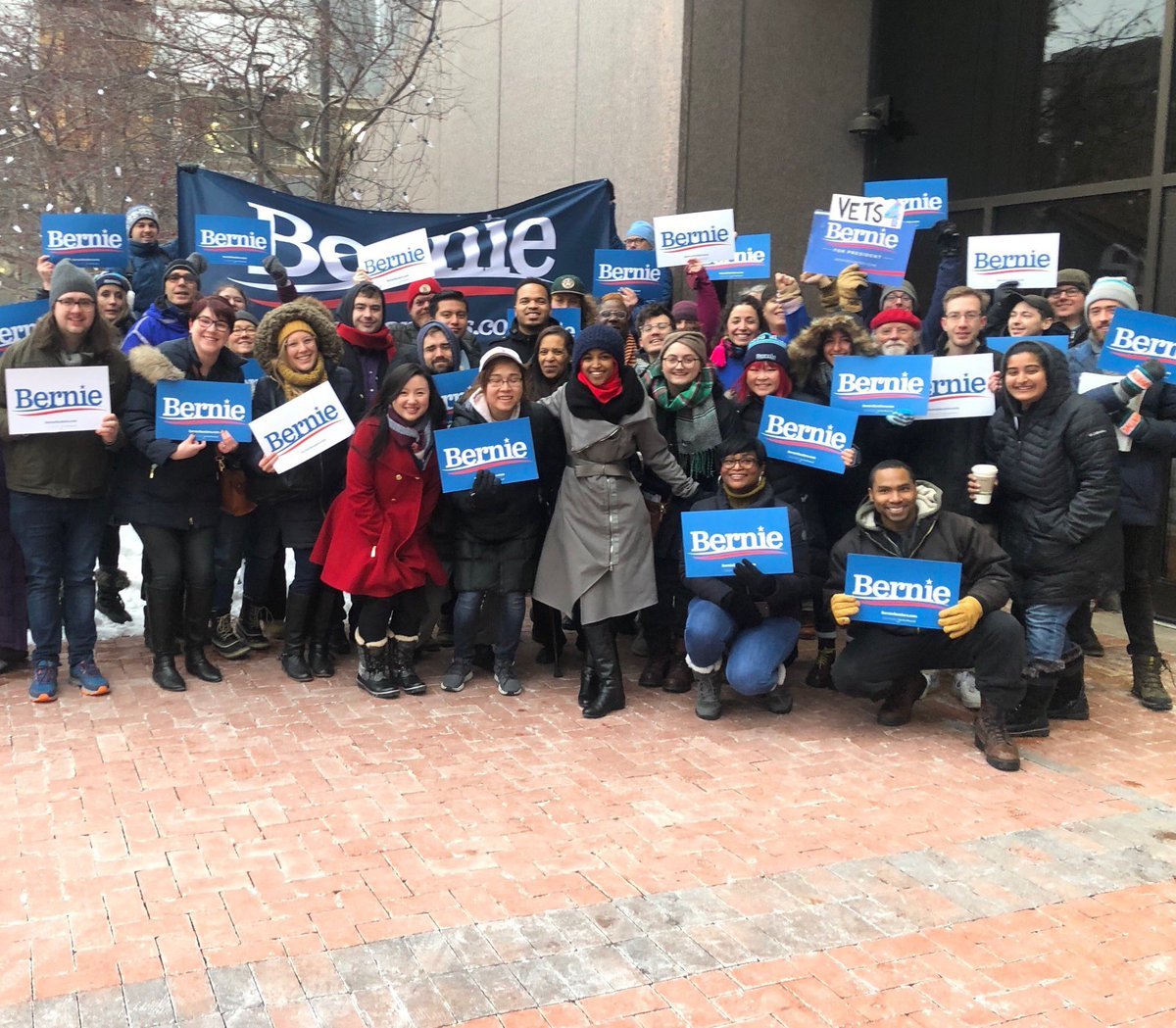 Early voting in Minnesota starts today! And we are ready for @BernieSanders! #NotMeUs