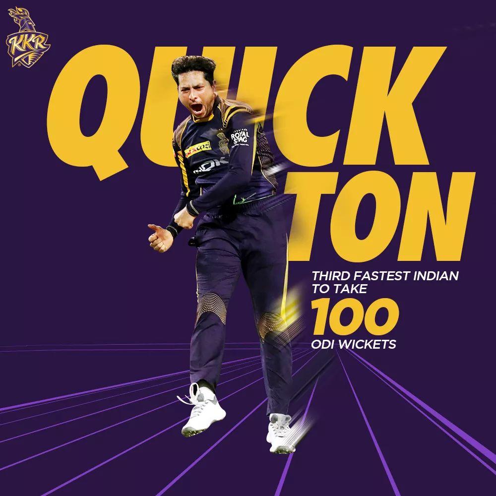ODI wickets for spin wizard Kuldeep Yadav!   Congratulations on the milestone! #INDvAUS #KorboLorboJeetbopic.twitter.com/UZSgrF0Ze9