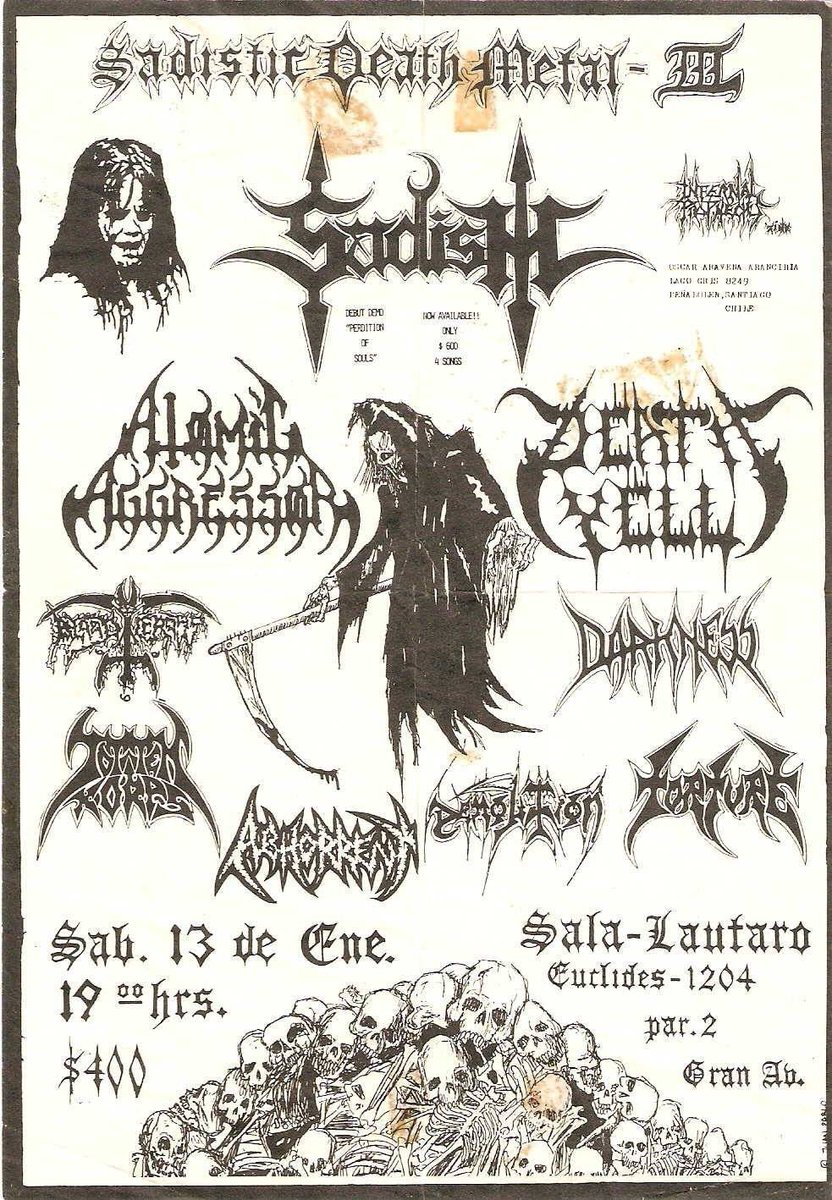 Chilean old school Death Metal attack, over there in 1990  #deathmetal #oldschool<br>http://pic.twitter.com/bviq6XFWaP