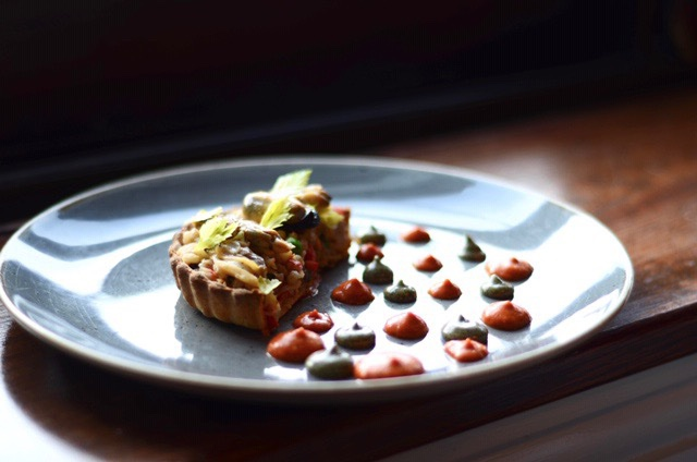 DINE OUT FESTIVAL OFFICIALLY STARTS TODAY! From our #DOVF menu — Seafood Tart with fermented barley, lobster garum, seafood aioli. <br>http://pic.twitter.com/uLOOSXl1ax