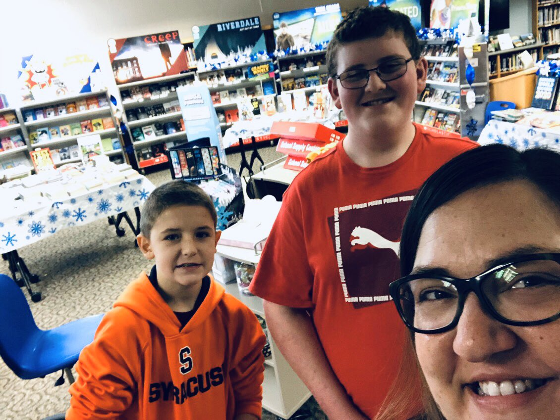 Finalizing Scholastic Book Fair set-up with two of my trustiest, most dedicated student volunteers. These kiddos are amazing! #lovemyjob #middleschoolersrock @eastironms @EIMS_PTSApic.twitter.com/6MnjsjvBHL