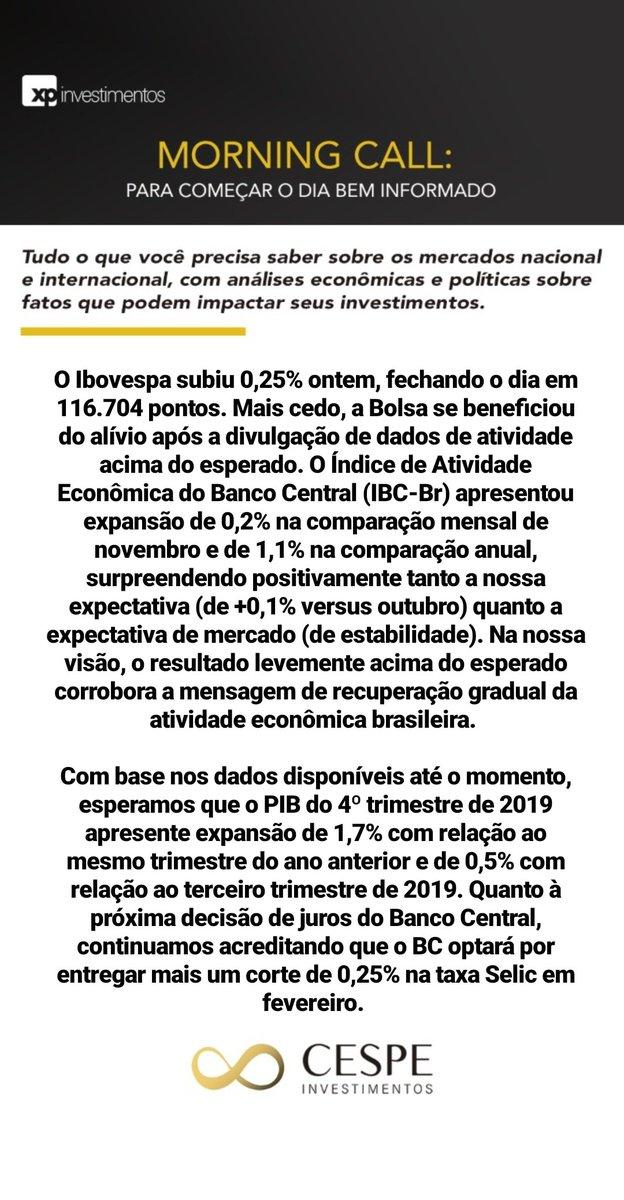 Otimismo sustentado por dados de atividade  #morningcall #investimentos #mercadofinanceiro #planejamentofinanceiro #morning #news #cespeinvestimentos #acreditenoimpossivelpic.twitter.com/fIi7VJeRft