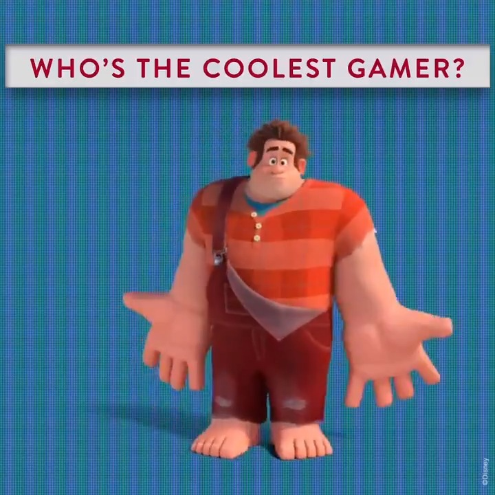 We need your help to convince Ralph. Drop a 😎 if you too think hes the coolest gamer of all time!
