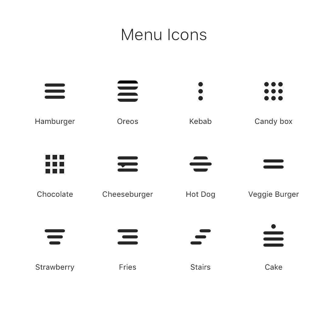 Menu Icons - which one do you use or eat ? #uxdesignmastery #uxinspiration #designeducation #designcommunity #dailyui #dribbbler #uxd #designleader #uiux #uxtips #uxdesign #uidesigners #uxigers #userexperiencedesign #userexperience #designtips #uiuxdesign #uxprocesspic.twitter.com/2eZ8k3oqcV