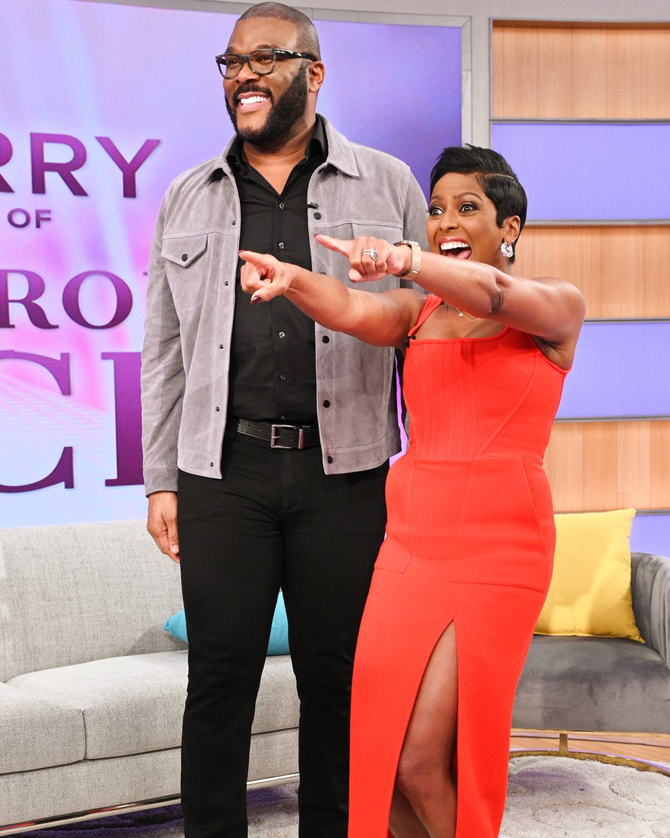 Friday Mood @tylerperry is on @tamronhallshow today!!!! Oh and he has two legends and two rising new stars with him. #afallfromgrace #netflix