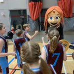 Meeting the Essex Rebels' mascot!