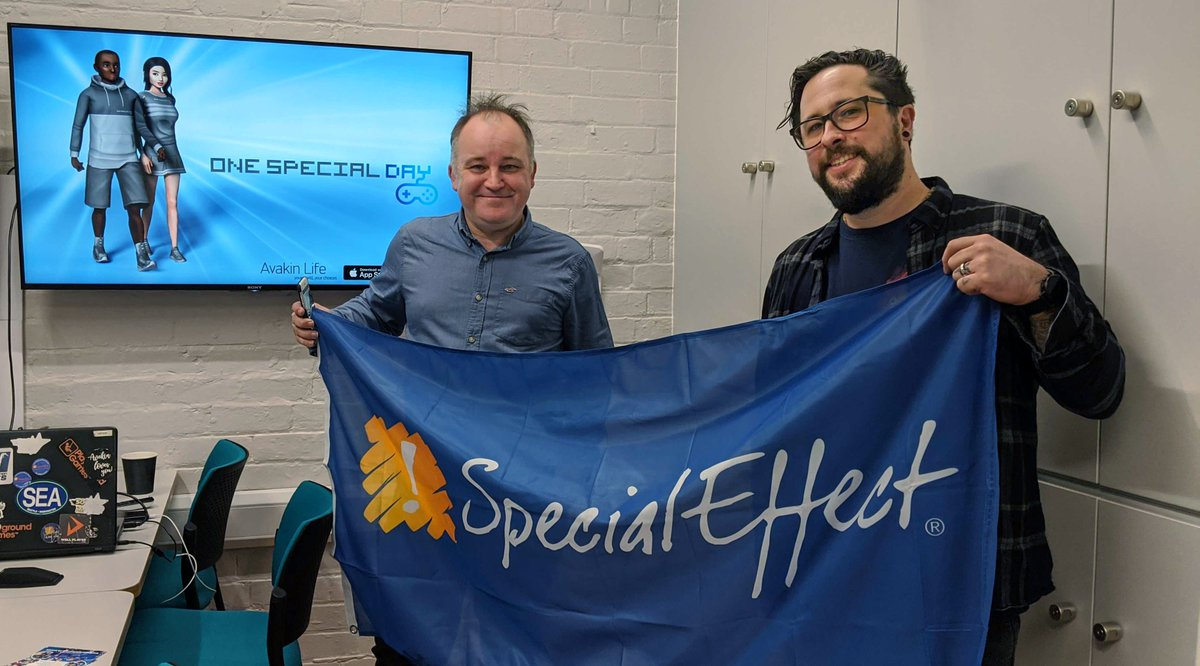 We were lucky enough to have the wonderful Nick Streeter from @Specialeffect visit the studio yesterday, to be a guest on the #Avakin community podcast!  If you haven't checked out the awesome work that Special Effect do, visit https://t.co/AG0nuRtj6Q  #SpecialEffect #TEAMLKWD https://t.co/AEq0gp8n2g