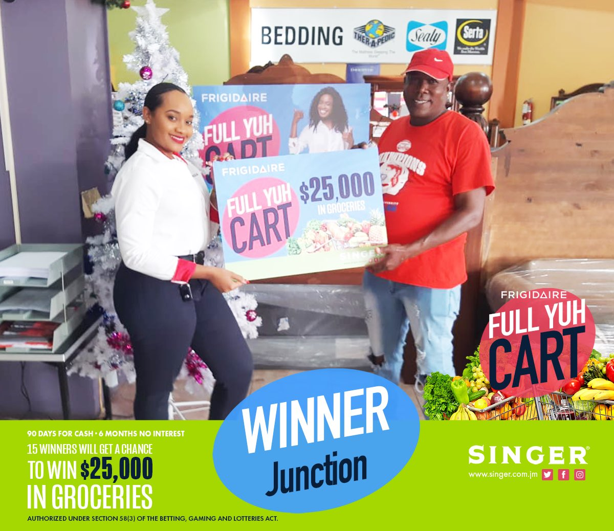 A series of fortunate events Thank you to everyone who shopped with us this Christmas Here's a few of our #Frigidaire Full YUH Cart winners!  ⁣ Visit our FB page for all our winners!⁣ #SingerJamaica #HappyHome #Appliances #Home #Jamaica #BestPrices #Giveawaypic.twitter.com/ZhjhJmAh46