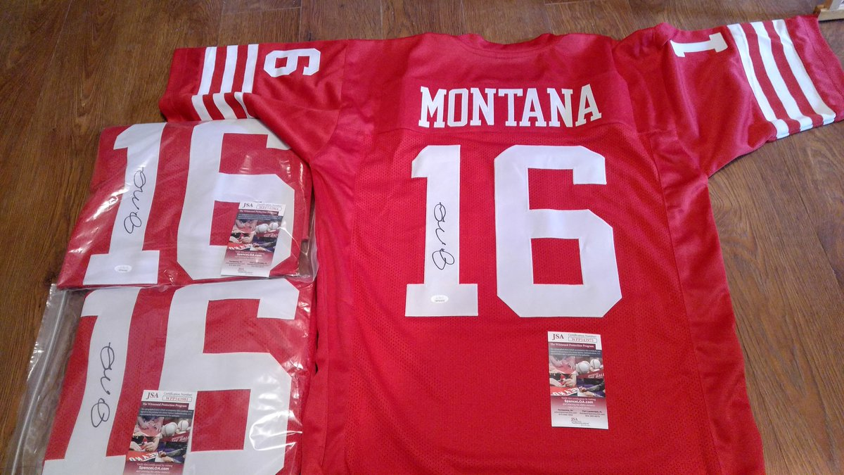 Joe Montana signed custom jerseys..JSA COA... $175 ea shipped <br>http://pic.twitter.com/9GB8ww5nE5