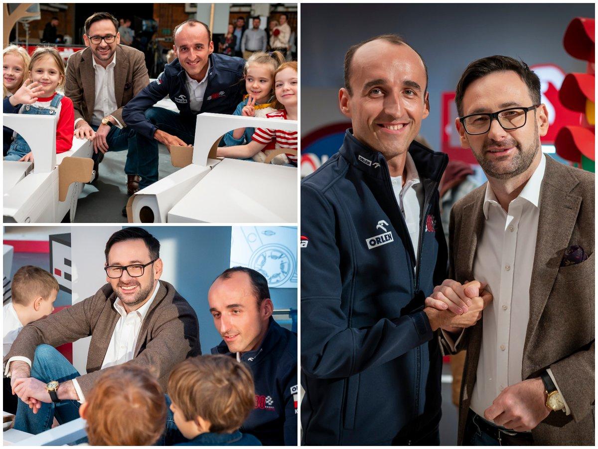 Pan Kierowca i Pan Daniel Obajtek - mocny team 💪  #supportKubica #Kubica #RobertKubica #AlfaRomeoRacingORLEN #Orlen