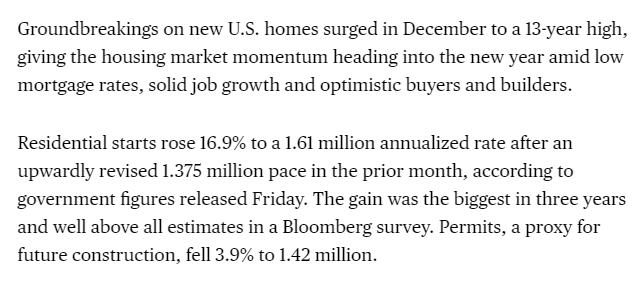 Turns out the economic boom is benefiting those building and living in houses. That's a lot of people.