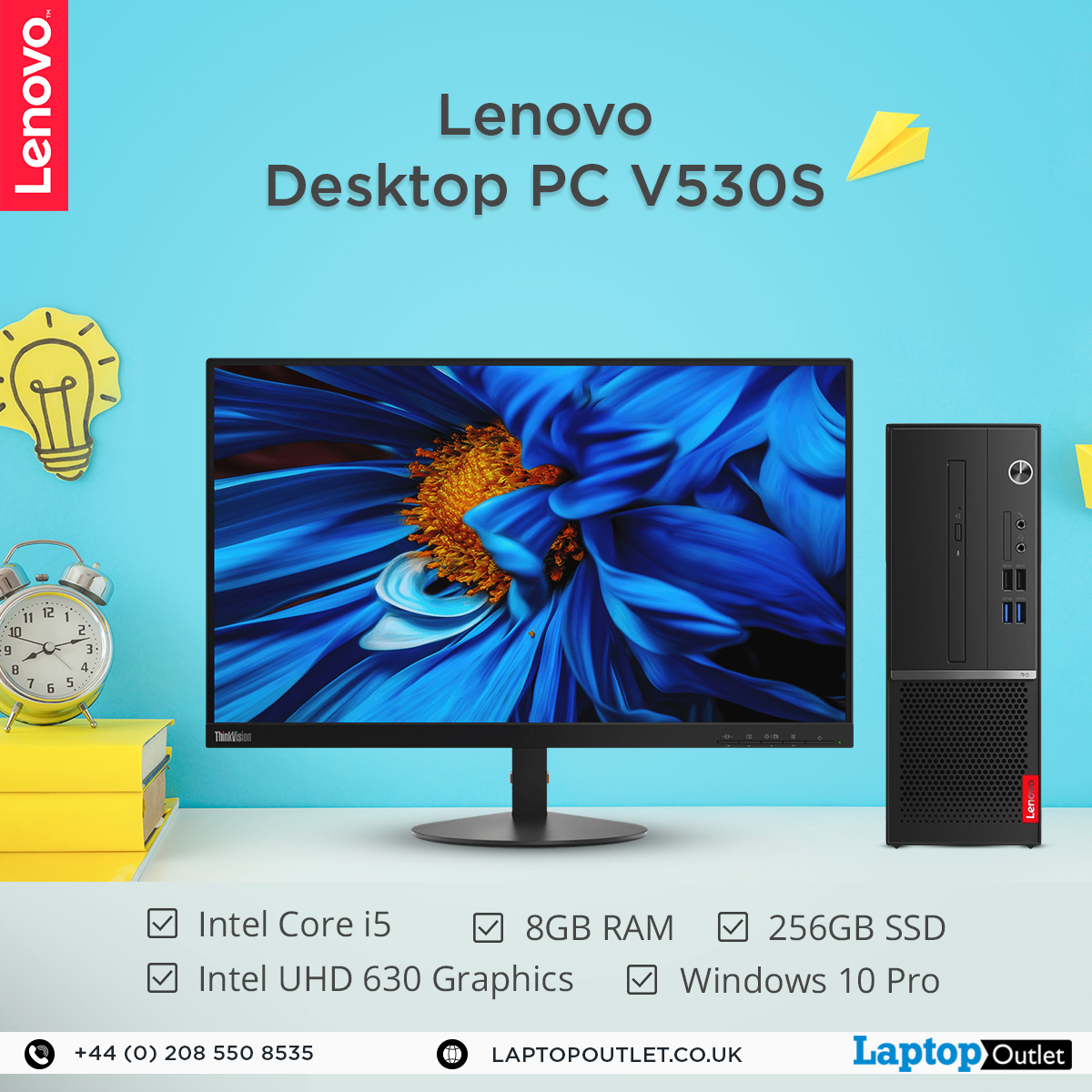 Equipped with the latest Intel® Core i5 processor, 8GB RAM and 256GB SSD, Lenovo V530S handles multitasking and large files with ease meanwhile maximising your productivity in no time.   View the details > http://bit.ly/2N3v15l    #LaptopOutlet #DesktopPC #PC #Lenovopic.twitter.com/bjVoRWpdCY