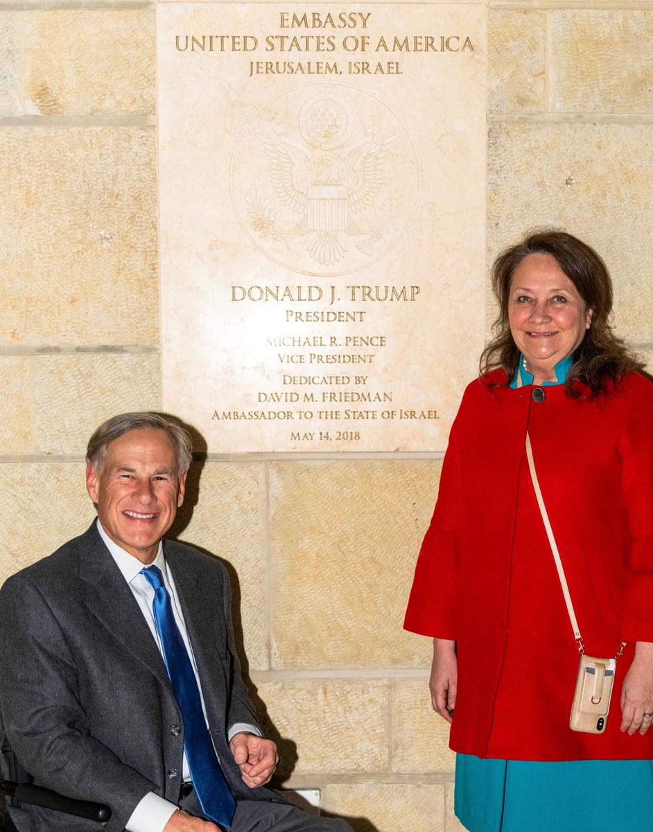 Cecilia & I visited the U.S. Embassy in Israel at its NEW location in Jerusalem. Thanks ⁦@realDonaldTrump⁩ for moving it to its rightful location. Thanks to ⁦@USAmbIsrael⁩ David Friedman for the kind hospitality.