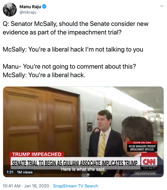 """A little insight into how calculated this was.McSally attacked Manu in the 10am hour. She had registered the domain name """"http://LiberalHack.com"""" by the 11am hour.(16:24 UTC = 11:24 EST)"""