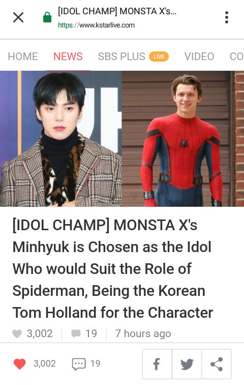 Monbebe! @OfficialMonstaX Minhyuk got an article at KstarLive! Register or Log In and give him unlimited hearts by tapping a lot! Also, theres only a few comments :( ▶kstarlive.com/share/MeSoHy13…