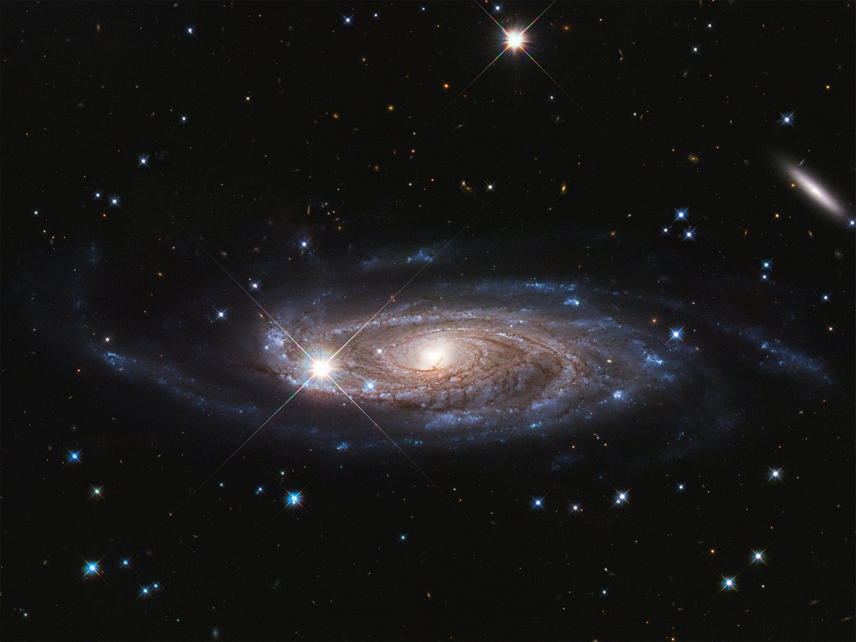 Happy #Saturday!This is galaxy UGC 2885, which may be the largest galaxy in the local universe. It's 2.5 times wider than the Milky Way and contains 10 times as many stars.Credit: NASA, ESA, and B. Holwerda (University of Louisville).