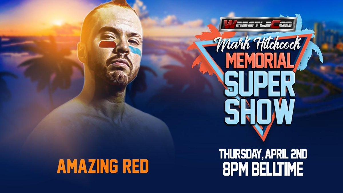 Final Supershow talent of the week, and first time appearing on any Wrestlecon Live event! Tickets on sale now for The Supershow at wrestlecon.com @AmazingRed1