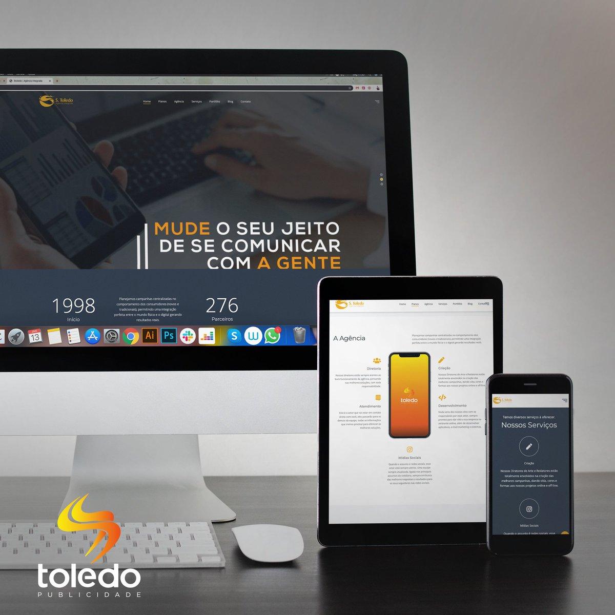 Conheça o nosso novo site e fique por dentro das nossas novidades.😉 📍Acesse: https://t.co/PBydR8MJPr . . #SSToledo #2020 #Publicidade #CampinaGrande #PB #Agencia #Site https://t.co/YB3XjGWFjt