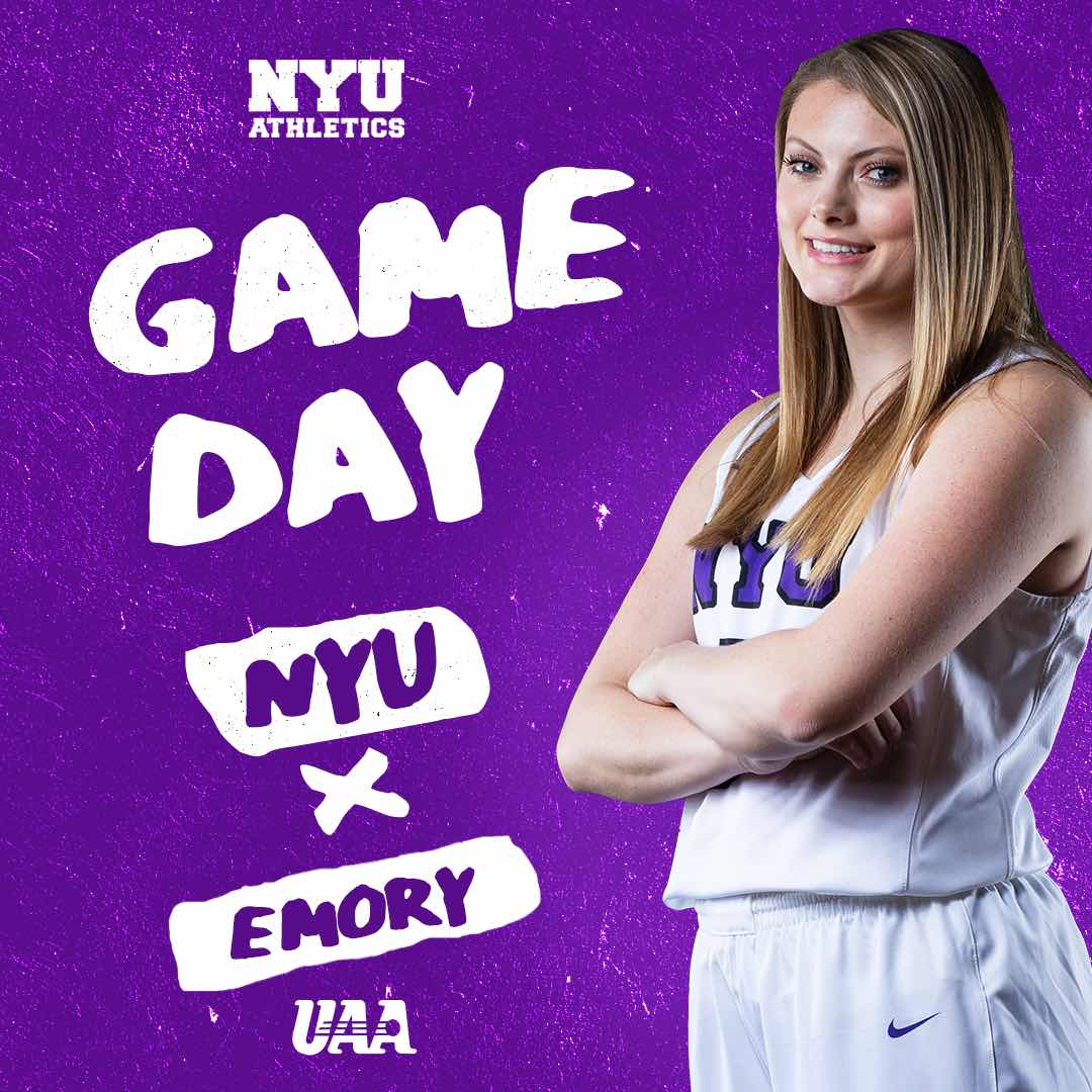 IT'S GAMEDAY The #Violets continue UAA play @ home today vs. Emory @ 6PM. #Womenshoops #collegebasketball #WeAreNYUpic.twitter.com/Os1tPYgkge