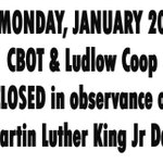 Image for the Tweet beginning: CLOSED THIS UPCOMING MONDAY...