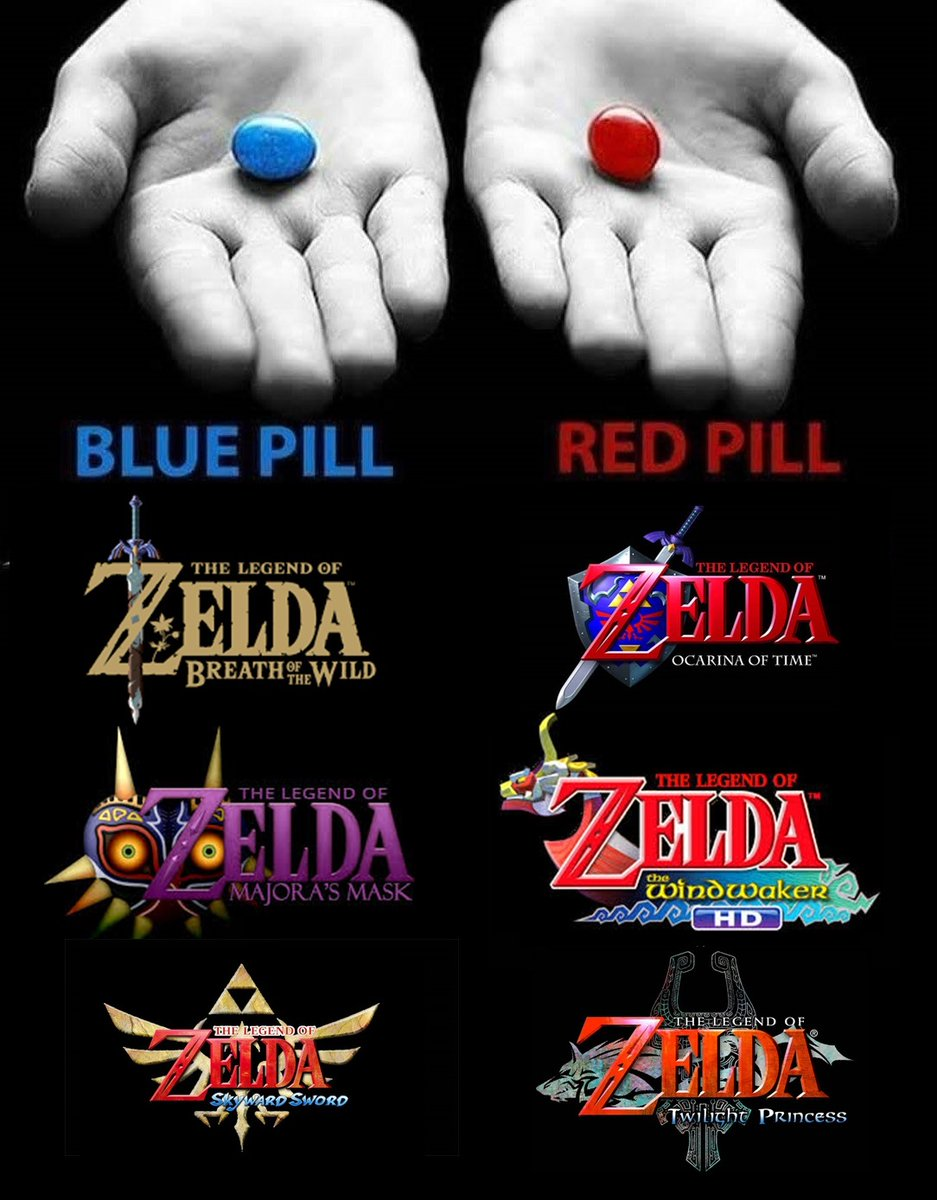 What pill would you take? 🔵🔴