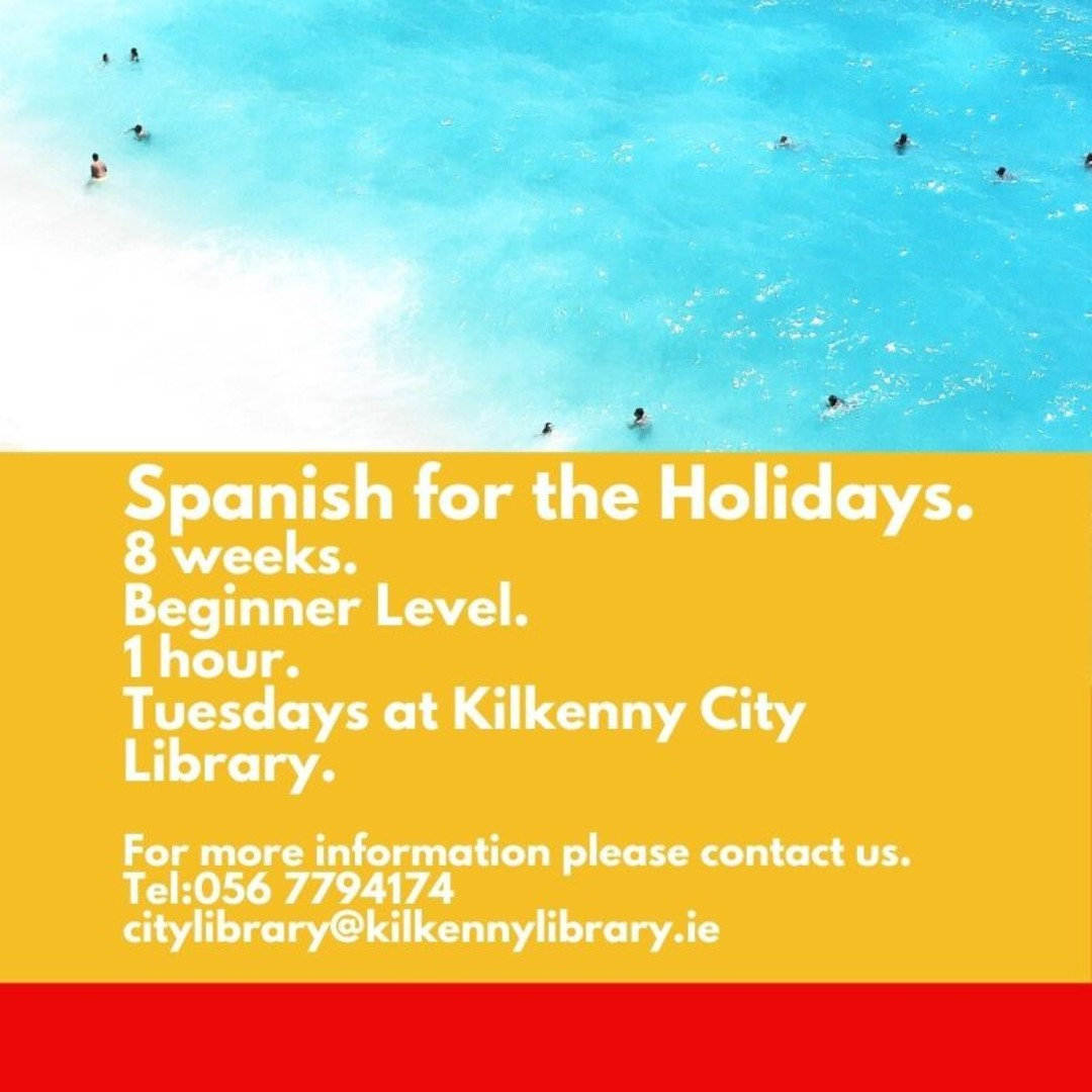 Learn the basics of Spanish in an informal friendly setting. Contact us at Kilkenny City Library to book your place, 056 7794174, or citylibrary@kilkennylibrary.ie  #kilkennylibrarypic.twitter.com/4SFvJVvQLc