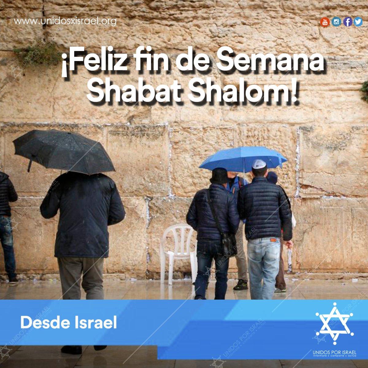 RT @unidosxisrael: ¡#ShabatShalom, amigos de #Israel! ¡Que tengan un rico fin de semana! https://t.co/aBLFsklmkd