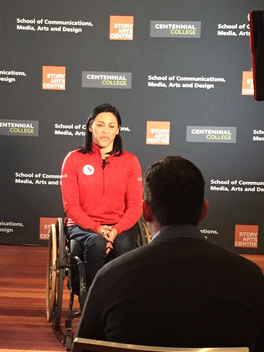 """Tara Llanes a Team Canada wheelchair basketball Olympian, talks about her progression in wheelchair basketball.  """"Honestly I think part of is because I was a professional athlete before, I love pushing myself as hard as I can"""". pic.twitter.com/5MjKGu5shG"""