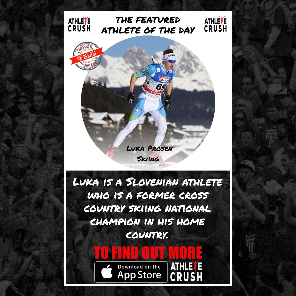 We're excited to announce today's #FeaturedAthlete on our new sport-specific social media app, Athlete CRUSH @lukaprosen   Download the app now by clicking the link in our bio to check it out, and to learn more about Luka and all the otherathletes on our platform!pic.twitter.com/xjo0jriW1l