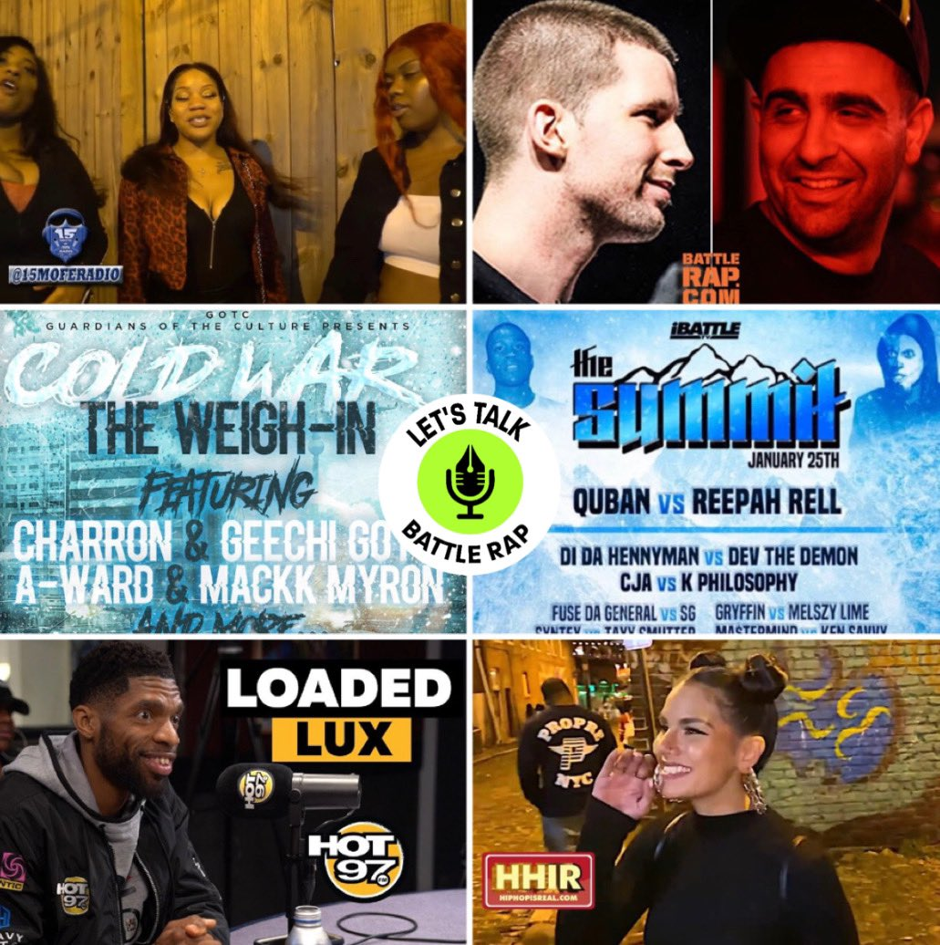 1.30.20 LTBR NEWS POD  The newest Bardashian  Charron calls our Dizaster  Hennyman IBattle Debut  The Cold War GOTC card  Loaded Lux on HOT97   Myverse Responds to Lady Luck  And much more ! On all streaming platforms.  https://podcasts.apple.com/us/podcast/lets-talk-battle-rap/id1351395270#episodeGuid=5e2156ada06034ee46298522 …pic.twitter.com/MiAYh16Nk9