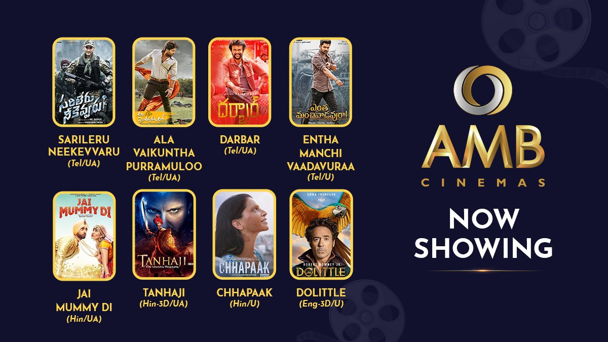 Check out this weeks schedule at AMB Cinemas and pick your movie. Book your tickets and enjoy the snack bar and complete cinematic experience of the theatre. #AMBCinemas #NowShowing #Movies #BookTicketsNow #Fun